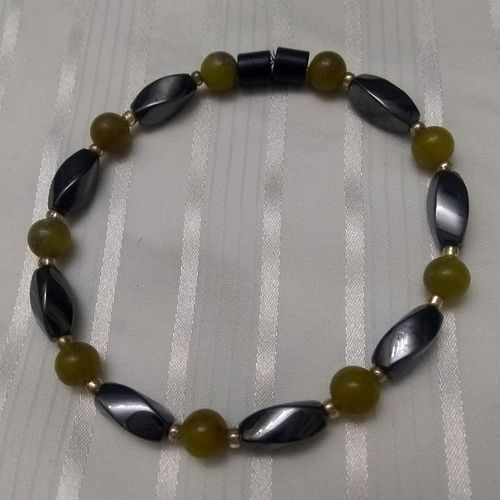 Woman Single 36.10: Lemon Crystal   + Twist Magnetic Hematite