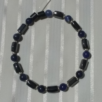 Woman Single 36.61: Sodalite + Hex Magnetic Hematite